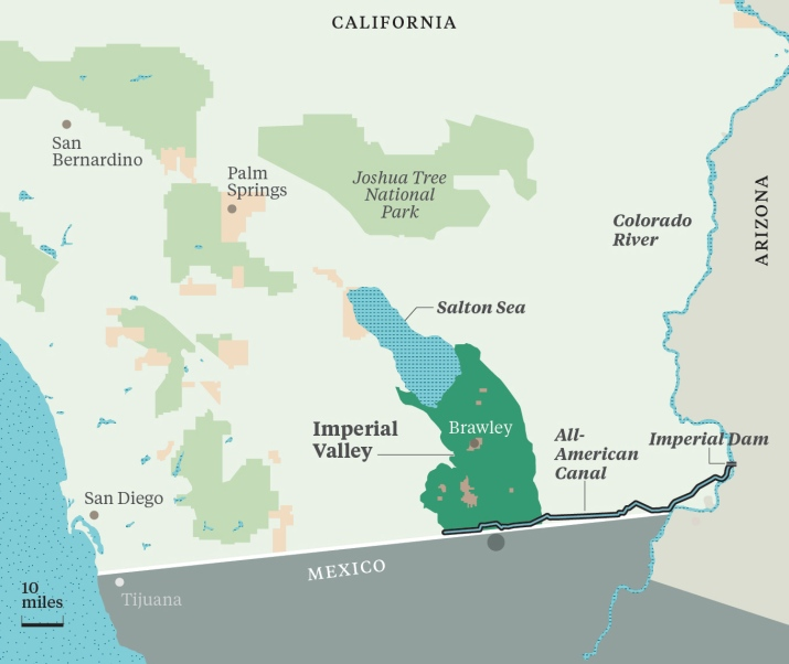 imperial valley map